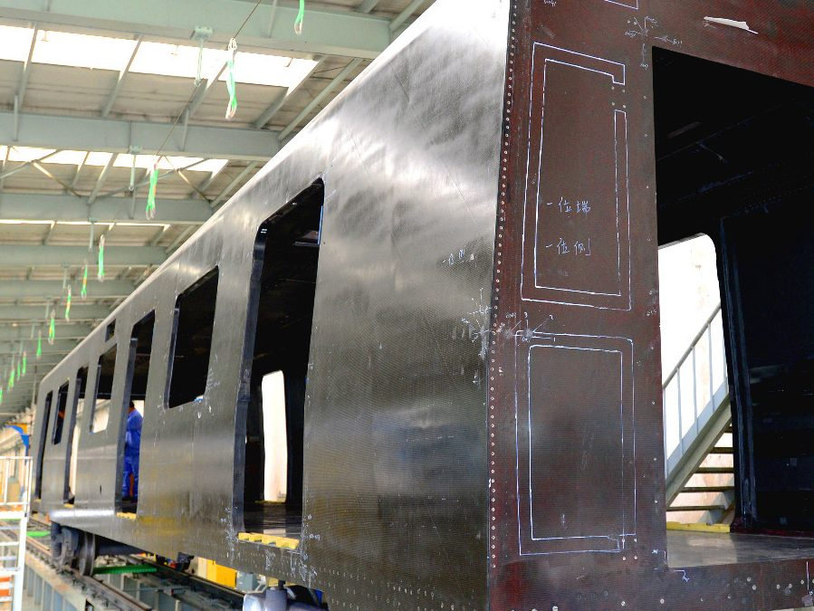World's First Carbon Fibre Subway Car